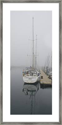 Yacht Doesn't Go In The Fog Framed Print