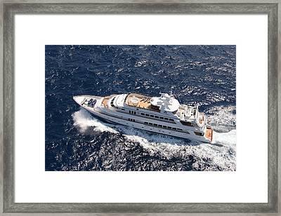 Yacht Not Mine Framed Print by John Rowe