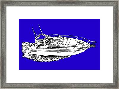 Yacht On A Shirt Framed Print by Jack Pumphrey