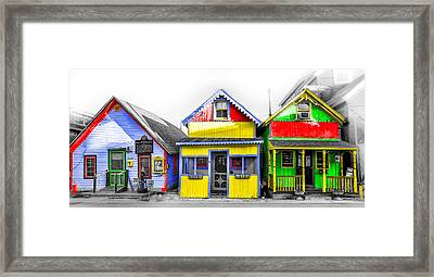 Framed Print featuring the photograph Yacht Street Cape May In Technicolor by Bill Cannon