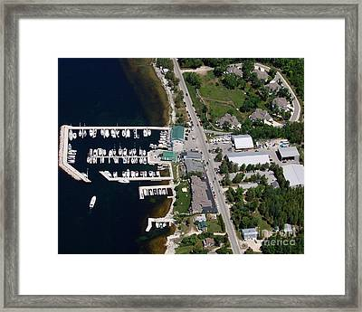 Yacht Works Marina To North Framed Print by Bill Lang