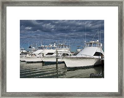 Yachts At The Dock Framed Print