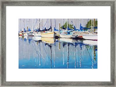 Yachts Framed Print by Sergey Zhiboedov