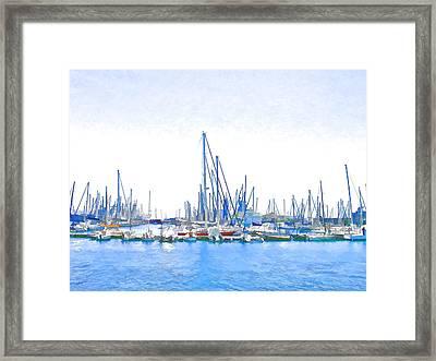 Yachts Simon Framed Print by Jan Hattingh