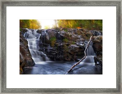 Yacolt Falls In Autumn Framed Print by David Gn