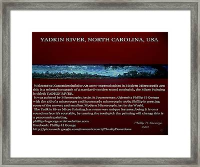 Yadkin River North Carolina Framed Print by Phillip H George