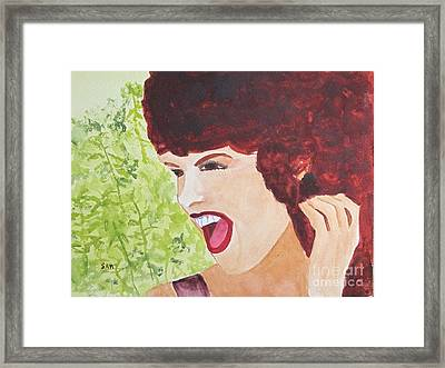 Framed Print featuring the painting Yah by Sandy McIntire