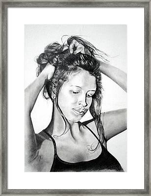 Framed Print featuring the drawing Yaha by Mayhem Mediums