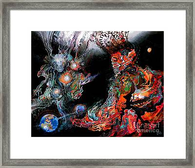 Yahweh And Lucifer's Game Framed Print