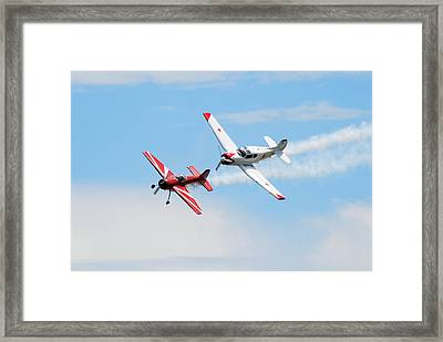 Yak 55 And Yak 18 Framed Print by Larry Keahey