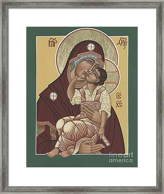 Framed Print featuring the painting Yakhrom Icon Of The Mother Of God 258 by William Hart McNichols