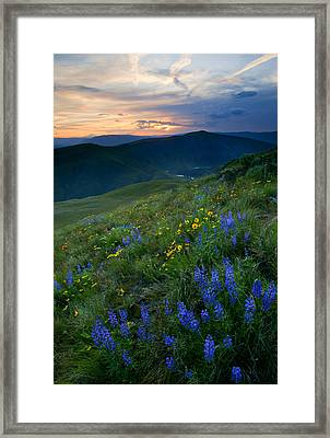 Yakima River Canyon Sunset Framed Print by Mike  Dawson