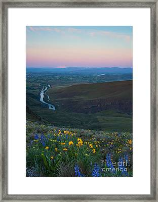 Yakima River Dawn Framed Print