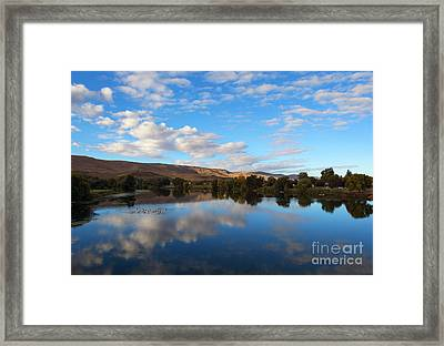 Yakima River Mirror Framed Print