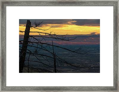 Yakima Valley From Sedge Ridge Framed Print by Ron Day