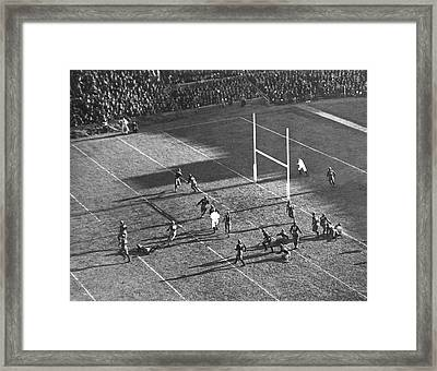 Yale Attempts Forward Pass Framed Print by Underwood Archives