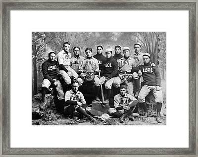 Yale Baseball Team, 1901 Framed Print by Granger