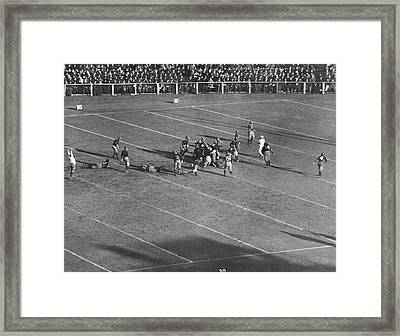 Yale Drop Kick Is Good Framed Print by Underwood Archives
