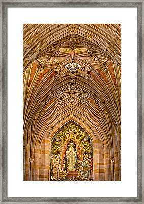 Framed Print featuring the photograph Yale University Alma Mater by Susan Candelario