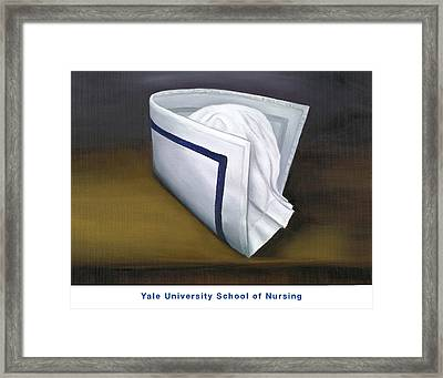 Framed Print featuring the painting Yale University School Of Nursing by Marlyn Boyd