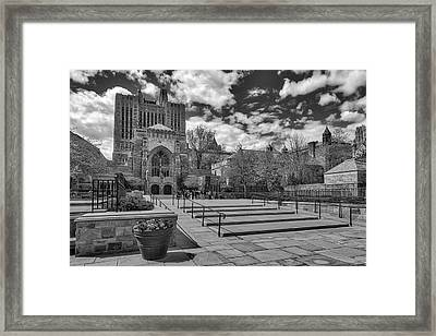 Yale University Sterling Library II Bw Framed Print