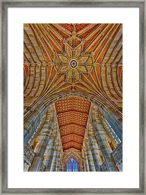 Framed Print featuring the photograph Yale University Sterling Library by Susan Candelario