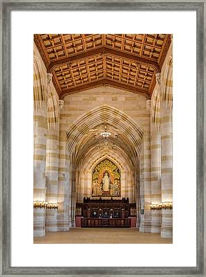 Framed Print featuring the photograph Yale University Sterling Memorial Library by Susan Candelario