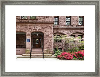 Framed Print featuring the photograph Yale University Warner House by Susan Candelario