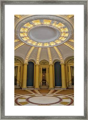 Framed Print featuring the photograph Yale University Woolsey Hall by Susan Candelario