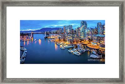 Yaletown Panorama Framed Print by Inge Johnsson