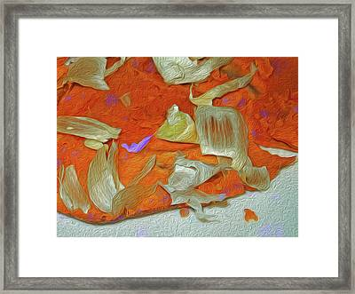 Yam And Garlic Abstract With Purple Framed Print