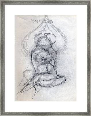 Yam Yub Drawing Framed Print by Stephen Carver