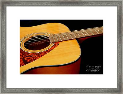 Yamaha Guitar - No 2 Framed Print by Mary Deal