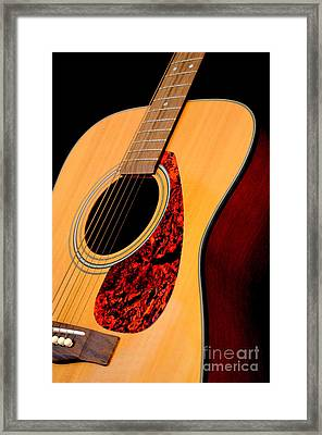 Yamaha Guitar - No 3 Framed Print by Mary Deal