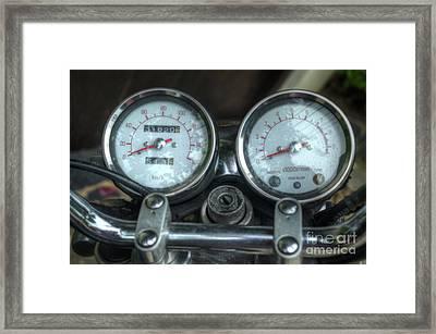 Yamaha Speedometer Framed Print