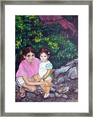 Yamileth And Daughter Framed Print by Sarah Hornsby