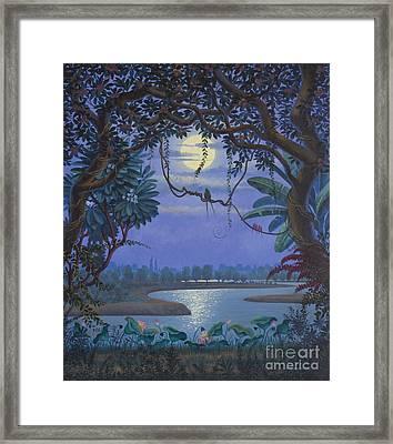 Yamuna At Night Framed Print