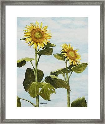 Yana's Sunflowers Framed Print
