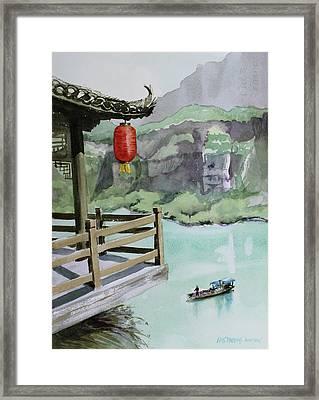 Yangtze Lantern Framed Print by Kris Parins