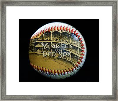 Yankee Baseball Framed Print