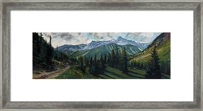 Framed Print featuring the painting Yankee Boy Basin by Billie Colson