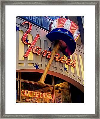 Yankee Clubhouse Framed Print by Joann Vitali