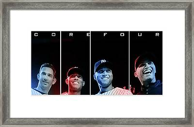 Yankee Core Four By Gbs Framed Print by Anibal Diaz
