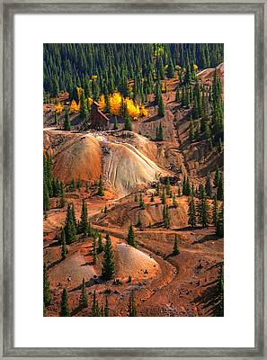 Tailings Framed Print by Mike Flynn
