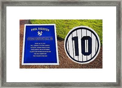 Yankee Legends Number 10 Framed Print