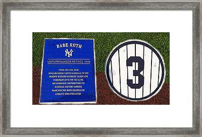 Yankee Legends Number 3 Framed Print by David Lee Thompson