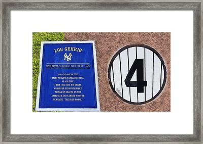 Yankee Legends Number 4 Framed Print