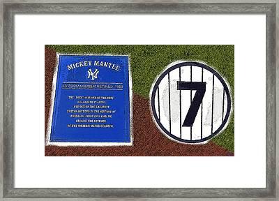 Yankee Legends Number 7 Framed Print by David Lee Thompson