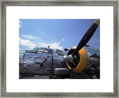 Framed Print featuring the photograph Yankee Raider B-25  by Don Struke