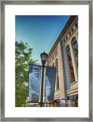 Yankee Stadium Babe Ruth Plaza Framed Print